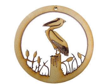 Pelican Ornament - Pelican Ornaments - Pelican Christmas Ornament - Pelican Decorations - Pelican Gift - Beach Decor - Personalized Free