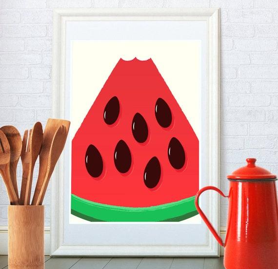 fruit watermelon kitchen print by restylegraphic