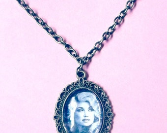 Dolly Parton Necklace, Dolly Parton, Dolly Necklace, Feminist Icon, Dolly Parton Jewelry, Dollywood, Country Singer, Dolly Parton Picture