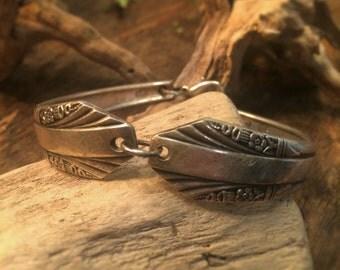 Antique Art-Deco Spoon Hand-Formed Bracelet