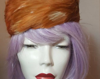 FREE  SHIPPING   1950  Feather  Hat