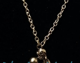 Silver Fortune Teller Crystal Ball Necklace, Psychic Energy on Chain