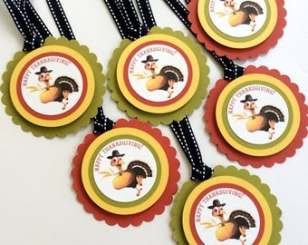 Thanksgiving Gift tags - Thanksgiving favor tags - Thanksgiving tags - 12 a pack - Thanksgiving party supplies