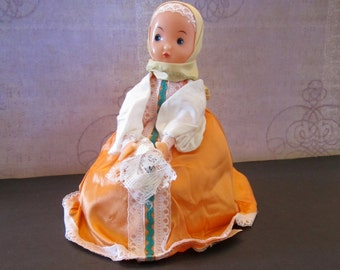 Vintage Russian Samovar Warmer or Tea Cozy Doll and Tea Warmer
