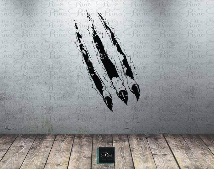 Dinosaur claws Decal - claw scratch Wall Decal - Car Hood Vinyl decal sticker - boys Bedroom decal