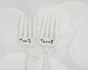 mr and mrs wedding forks , Vintage Silver plate ,Wedding Gift, Unique Gift, Anniversary Gift, bridal shower gift