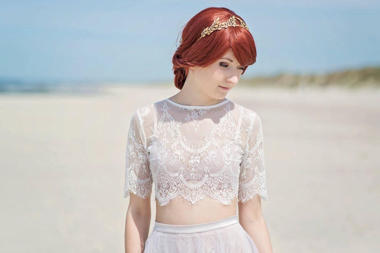 Alexandra Lace Topper / Bridal Lace Topper / Lace Jacket