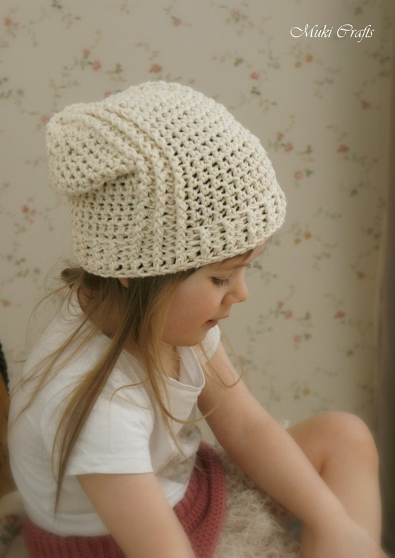CROCHET PATTERN slouchy hat Jess (baby/toddler/child/teen/woman/man sizes)