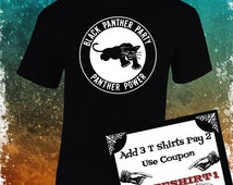 Black Panthers Party T Shirt!!!! Screen Printing over cotton!!!