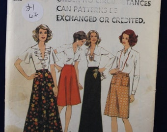 1970's Sewing Pattern for a Woman's Skirt in Size 10 - Style 4797