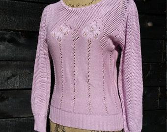 Jolie (S) Lavander Pink Women's Vintage Sweater