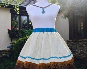 Disney Princess Adult Pocahontas inspired Skirt….Birthday…Halloween party…Disney trip Skirt!!!!