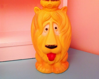 Reliable plastic king lion bank