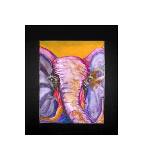 Folk Art Paint Elephant Art Wall Art Prints Primitive Art