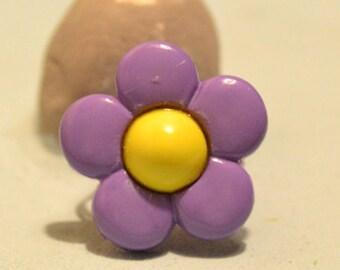 Purple Flower Ring