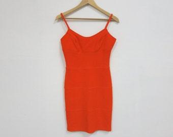 1990's Vintage 'Moda Int'l' Bright Orange Mini Dress, MED