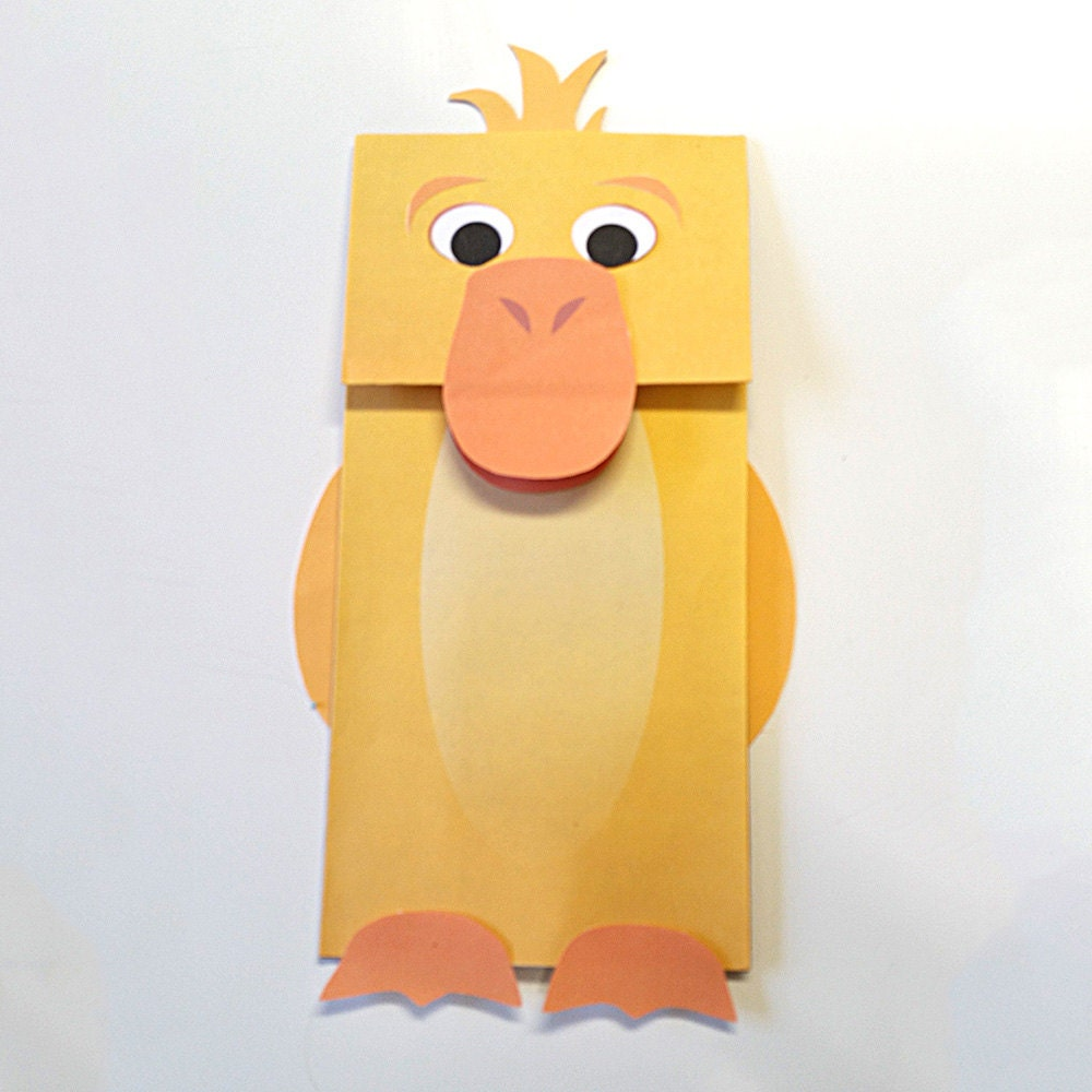 Paper Bag Puppet Etsy Il Fullxfull Paper Bag Puppet