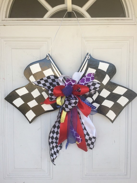 Items Similar To Nascar Door Hanger, Nascar Checkered Flag. Big Lots Room Divider. Decorating Hat Boxes. Wedding Table Cloth Decorations. Mediterranean Home Decor Accents. Decorate A Mantel. Room Decor For Tweens. Country Decore. Cost Of Painting A Room