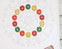 Vintage Print Ad for Livesavers Candy Roll from Life Magazine Issue May 1960 / Winning Flavors Prize Wheel