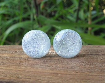 """Pearlescent Domed  Dichroic Glass Plugs 10g 8g 6g 4g 2g 0G 00g  7/16"""" 1/2"""" 9/16"""" 5/8"""" 3/4"""" 7/8"""" 1"""" 2.5 mm 3 mm 4 mm 5 mm 6 mm - 25 mm"""