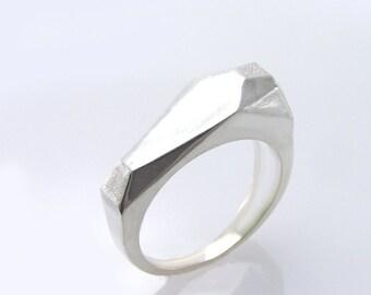 Silver signet ring, Geometric Ring, Geometric Silver Ring, geometric sterling silver ring.