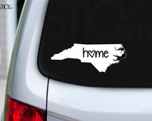 2x North Carolina Home Style 2 NC State Sticker Outdoor Decal for Car, Window, Wall Decal also Safe Indoors - 10 Year Guarantee