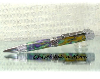 Mardi Gras Orchestra Band Music pen in Chrome