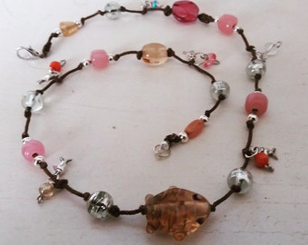 Fish bead handmade necklace