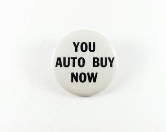 Car Salesman Pinback Button Car Auto Sales **Free Shipping**