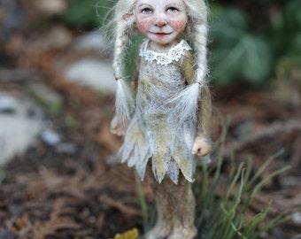 One of a kind miniature artdoll Elsa 1:12th by Tatjana Raum dollhouse size