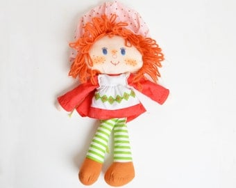 Vintage 80s Strawberry Shortcake Kenner Plush Rag Doll