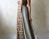 Alternative wedding dress, Bridal gown, Designer dress, colored wedding dress, Empire wedding dress, Golden wedding dress, evening gown