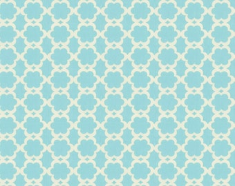 Cotton sewing quilting fabric by the yard - Kumari garden Tarika blue Dena Designs - NOT laminated - DF90