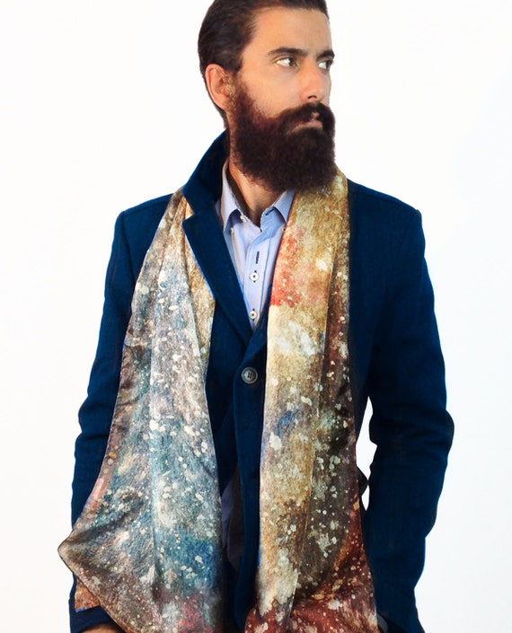 Men's silk scarf man hipster scarf men fashion