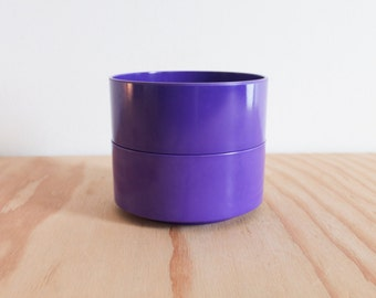 Pair of Purple Massimo Vignelli Heller Bowls