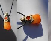 Fruity Mango Carnelian pendant / glowing orange / sunset oranges / carnelian / jewelry / pendant / woodland / SELF-LOVE CRYSTAL / khayanite
