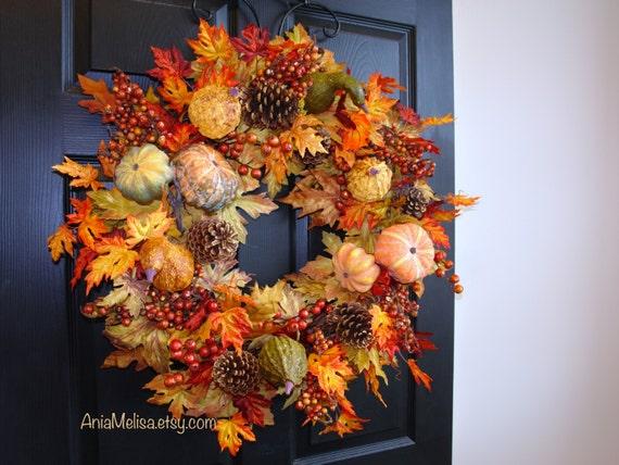 Fall Wreath 30 Fall Wreaths Thanksgiving Front Door