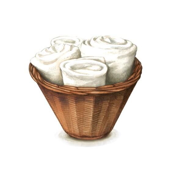 Towel Art Basket : Laundry room decor basket with towels art