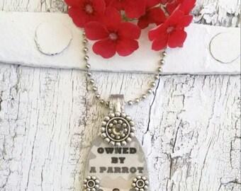 Parrot Necklace, PaRrOt JeWeLrY, BiRd NEcklace, BiRd JEwelry, Charm NeCklace, Owned By A Parrot, CrAzY PaRRot LaDy
