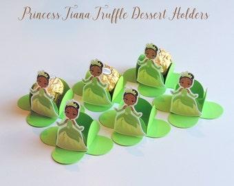 PRINCESS TIANA CHOCOLATE Holders,Truffle Dessert Holders,Brigadeiro para  Forminhas,Party Favors,Thank you mini Boxes,Mini Cake Pop Holders.
