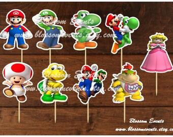Marios Cupcake Toppers.