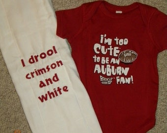 Alabama onesie and burp cloth gift set