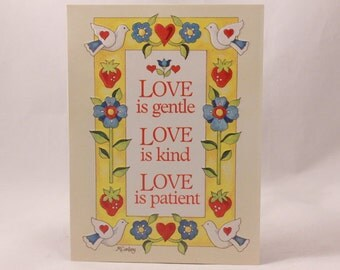 "Artfaire ""Love is Gentle Love is Kind Love is Patient"" Single Card with Envelope. Birds"