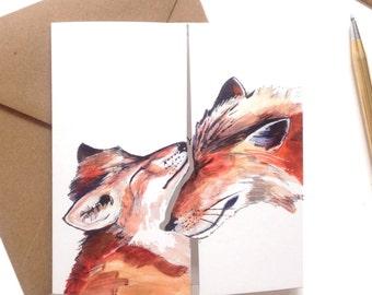 Fox Love  Square Greeting Card