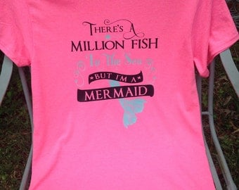 There's Alot of Fish in the Sea but I'm a Mermaid shirt