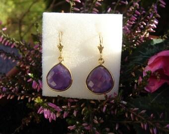 Drop earrings with Amethyst, fantastically beautiful!