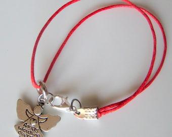 Angel Charm Bracelet Angel Bracelet Guardian Angel Jewelry Angel Pendant Protection Bracelet Conformation Gift Christian Jewelry