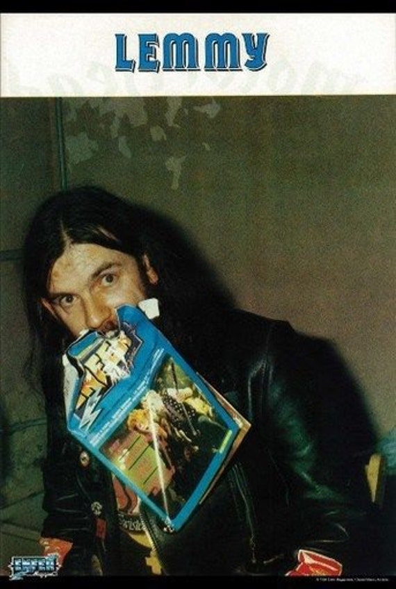motorhead scary lemmy early years rare poster
