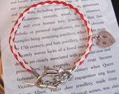 Leather Bracelet Personalised Bracelet Heart Bracelet Personalised Gift Anniversary Gift