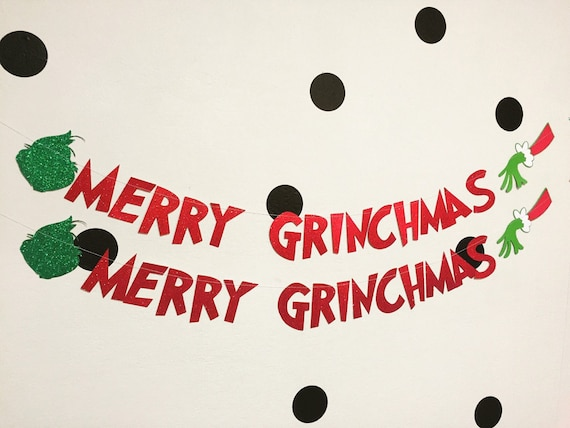 Merry Grinchmas Banner Decoration